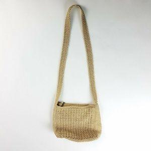 THE SAK Beige Crossbody Knitted Crochet Knot Bag